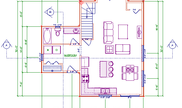 Sample Floor Plan Cottage Country Design